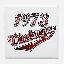 Unique Vintage 1973 Tile Coaster