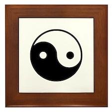 Yin Yang Framed Tile
