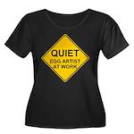 QUIET Egg Artist Women's Plus Size Scoop Neck Dark