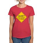 QUIET Egg Artist Women's Dark T-Shirt