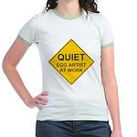 QUIET Egg Artist Jr. Ringer T-Shirt