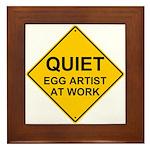 QUIET Egg Artist Framed Tile