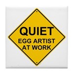 QUIET Egg Artist Tile Coaster