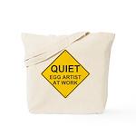 QUIET Egg Artist Tote Bag