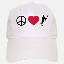 Peace, Love & Lacrosse Baseball Baseball Cap