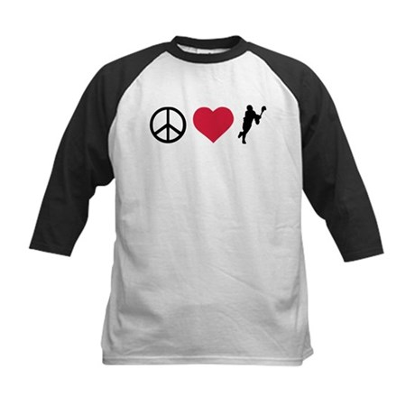Peace, Love & Lacrosse Kids Baseball Jersey