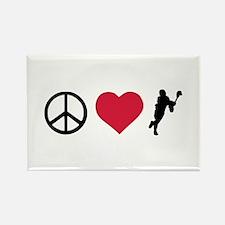 Peace, Love & Lacrosse Rectangle Magnet