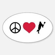Peace, Love & Lacrosse Decal