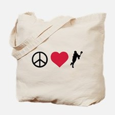 Peace, Love & Lacrosse Tote Bag