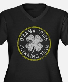 O'Bama Irish Drinking Team Women's Plus Size V-Nec