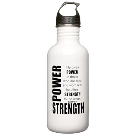 Power & Strength Stainless Water Bottle 1.0L