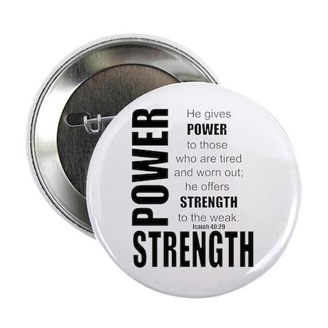 """Power & Strength 2.25"""" Button"""
