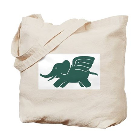 Flying Elephant Tote Bag