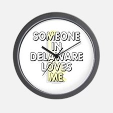 Someone in Delaware Wall Clock