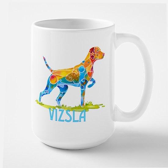 Vizsla on Point Gifts Large Mug