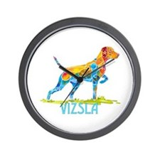 Vizsla on Point Gifts Wall Clock
