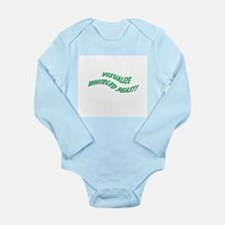 Whirled Peas Long Sleeve Infant Bodysuit