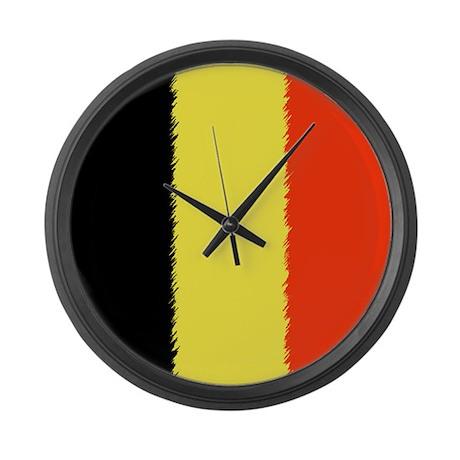 Flag of Belgium Large Wall Clock