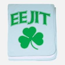 Eejit Irish baby blanket