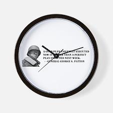 Patton - A Good Plan Wall Clock