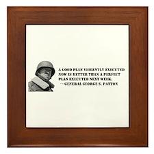 Patton - A Good Plan Framed Tile
