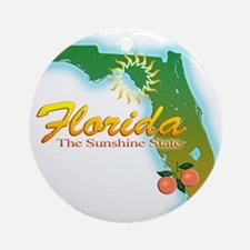Florida Ornament (Round)