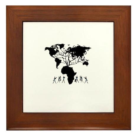 Africa Genealogy Tree Framed Tile