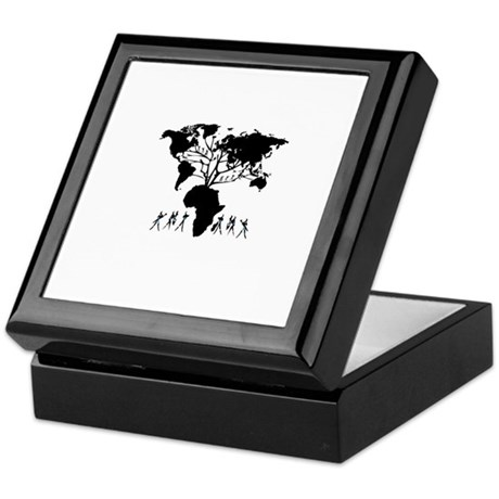 Africa Genealogy Tree Keepsake Box