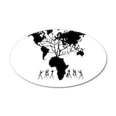Africa Genealogy Tree 22x14 Oval Wall Peel