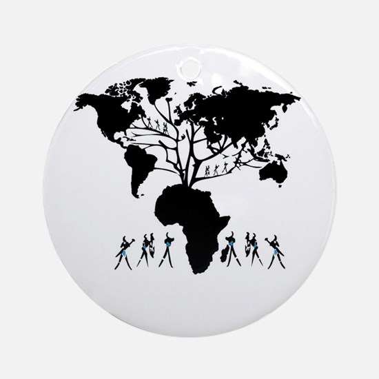 Africa Genealogy Tree Ornament (Round)