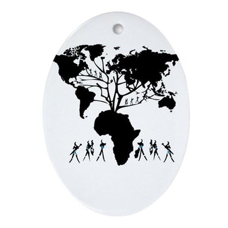 Africa Genealogy Tree Ornament (Oval)