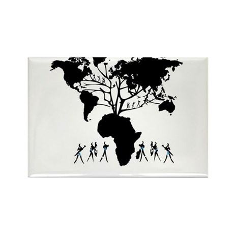 Africa Genealogy Tree Rectangle Magnet