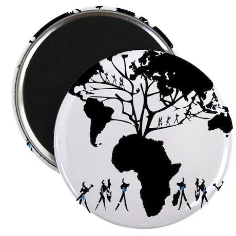 "Africa Genealogy Tree 2.25"" Magnet (10 pack)"