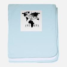 Africa Genealogy Tree baby blanket