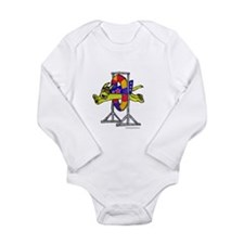 Super Doggie Jump Long Sleeve Infant Bodysuit