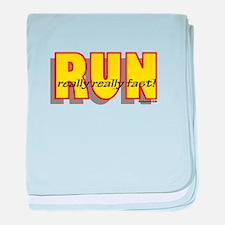 RUN Really Fast baby blanket