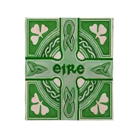 Irish Symbols Throw Blanket