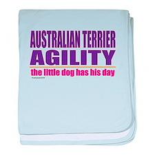 Australian Terrier Agility baby blanket