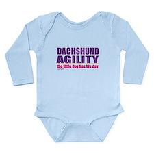 Dachshund Agility Long Sleeve Infant Bodysuit
