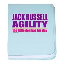 Jack Russell Agility baby blanket