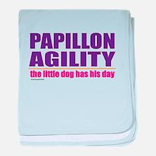 Papillon Agility baby blanket