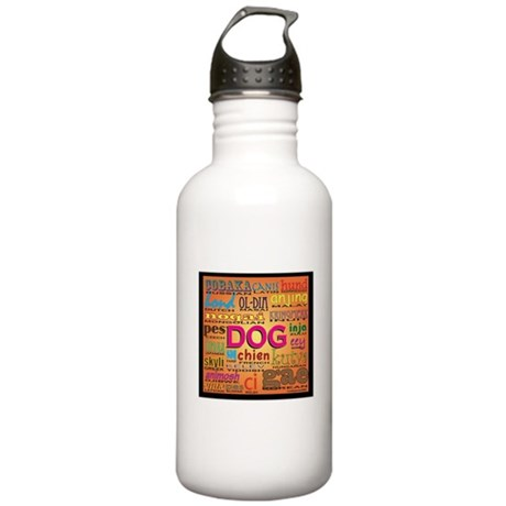 DOG in every language Stainless Water Bottle 1.0L