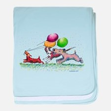 Dog Balloon Party baby blanket