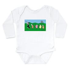 Border Collie Pied Piper Long Sleeve Infant Bodysu