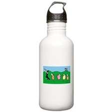 Border Collie Pied Piper Water Bottle