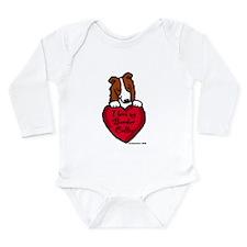 Border Collie (red) Love Long Sleeve Infant Bodysu