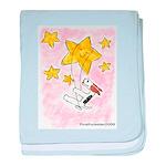 Wire Fox Terrier Star/Moon baby blanket