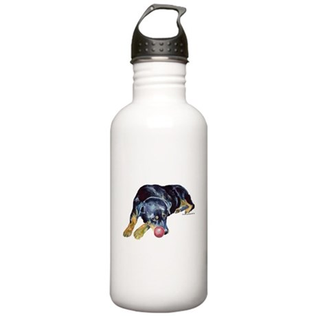 Rottweiller with Ball Stainless Water Bottle 1.0L