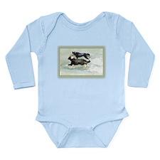 Border Collies Running Long Sleeve Infant Bodysuit