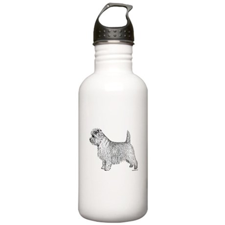 Cairn Terrier side Stainless Water Bottle 1.0L